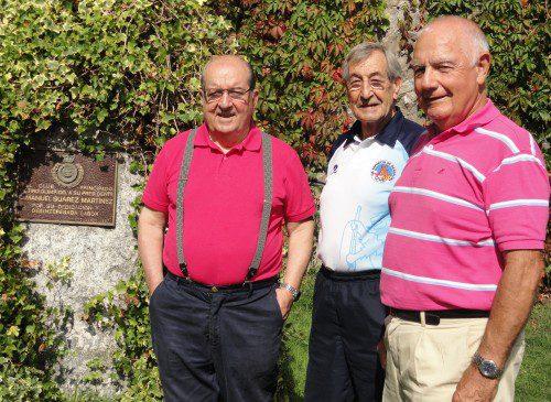 Presidente y Viceperesidente Club Principado con Fco. Javier (en medio)