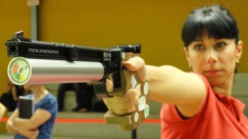 Isabel Gonzalo en plena acción.