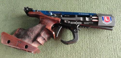 Esta flamante Match Gun es el arma utilizada por Jorge para competir