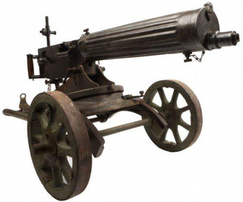 Ametralladora Maxim inventada en 1883