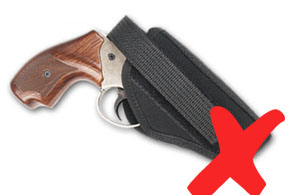 funda no cubre completamente el gatillo.