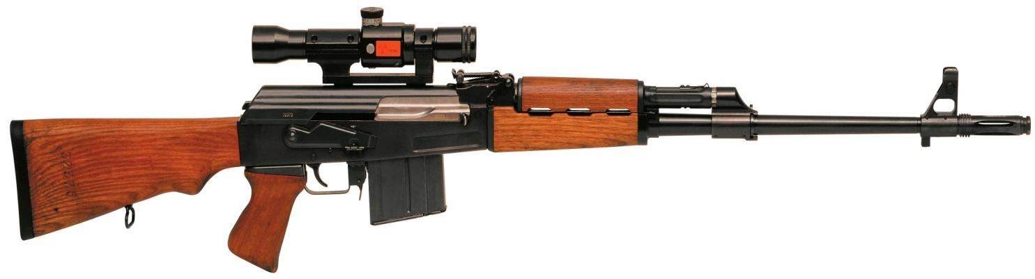 El fusil de tirador selecto Zastaba M76 de fabricación yugoslava.