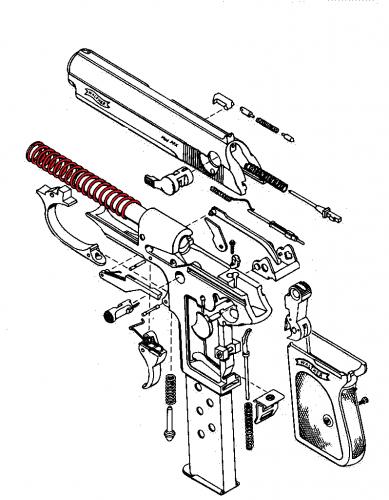despiece pistola walther pp