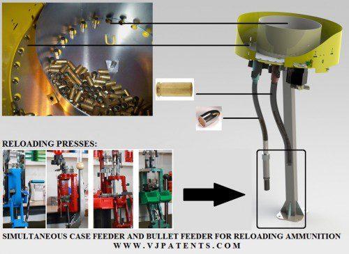 Alimentador de punta y vainas recarga munición