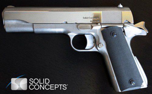 Pistola 1911 impresa en 3d