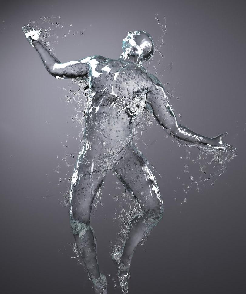 cuerpo humano agua test balístico