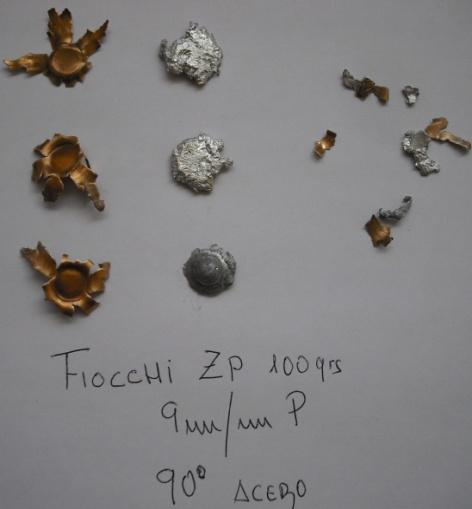 prueba balística fiocchi ZP