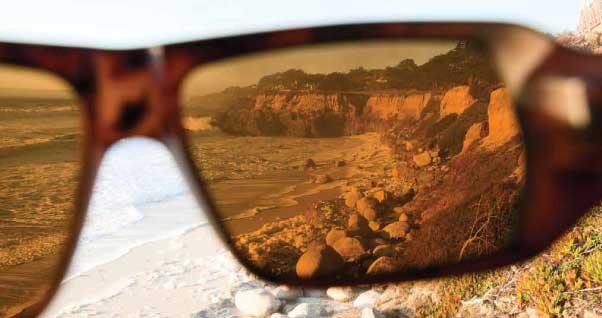 lentes polarizadas tiro