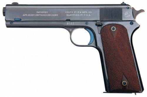 La pistola Modelo 1905 fue la predecesora directa del Modelo 1911 con una producción total de 6.100 unidades entre 1905 y 1911
