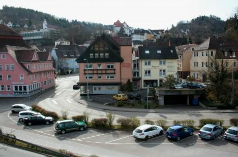 Vista de Oberndorf desde el puente.