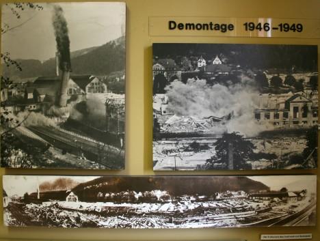 Imágenes de la demolición de la fábrica Mauser-Werke tras la II Guerra Mundial, del museo de la ciudad situado al lado del de armas.