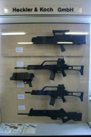 Uno de los expositores del museo dedicado a Heckler and Koch