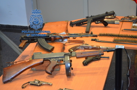 La Policía Nacional ha intervenido en Palma un arsenal de armas de fuego.