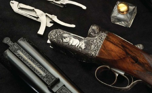 Rifle express Westley Richards de llave de caja.