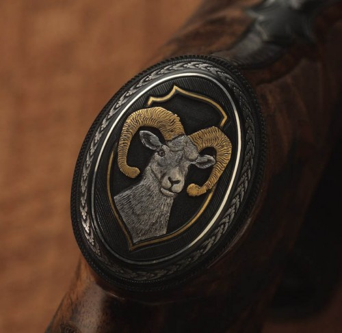 Rifle Rey Juan Carlos John Bolliger. Cabeza muflón