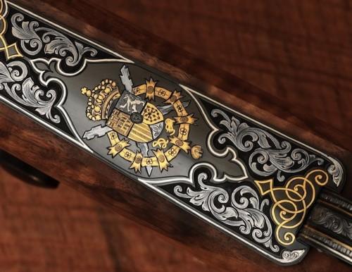 Sello de la casa Real con incrustaciones de oro y platino