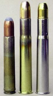 De izquierda a derecha, .458 Winchester MagnuM, .470 Nitro Express de Hornady y 470 Nitro Express de Federal.