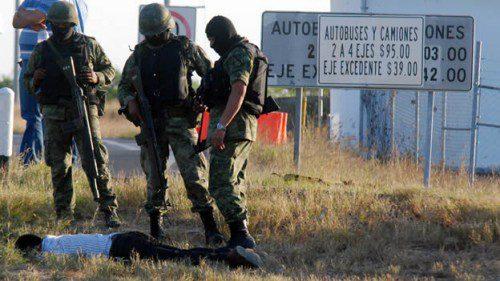 Narco abatido a tiros en el Estado de Tamaulipas, zona roja de guerra entre cárteles situada en el noreste de Méjico, en la frontera con Estados Unidos.