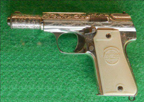 Pistola Astra 3003 burilada plata