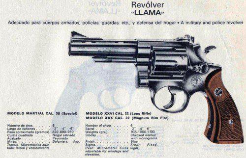 Revólver llama Martial
