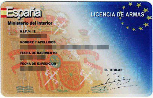Licencia armas