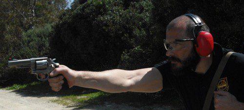 Disparo con revólver
