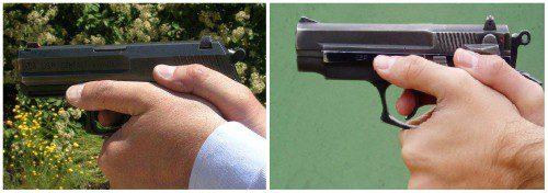Empuñamiento con pulgares paralelos en armas reglamentarias en el CNP.