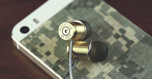 Auriculares con un casquillo de calibre .40