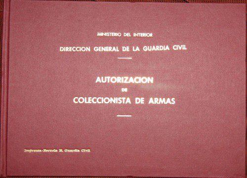 Libro de coleccionista de armas.