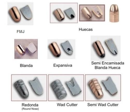 Tipos de puntas para arma corta