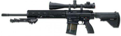 Actual (2008) versión de HK417 rifle con 20 cañon y visor