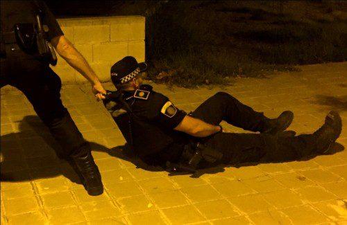 agresión a policías
