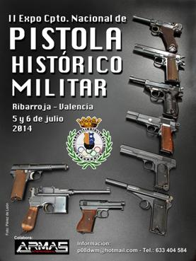 Cartel del expocampeonato pistola histórico militar 2014
