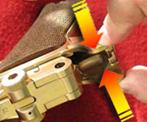ajuste aletas armazón pistola Luger