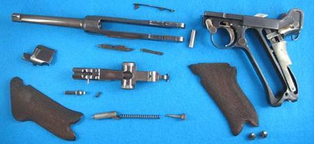 despiece pistola Luger