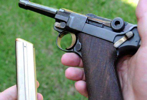 Trabas en pistola Luger