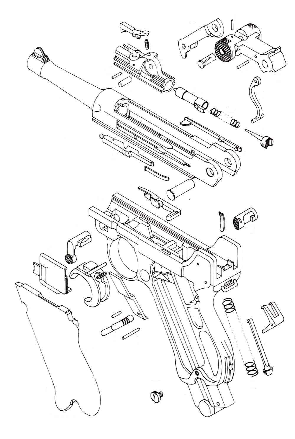 como desarmar mi luger stock armas