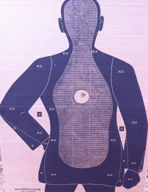 Disparo cartucho bala a 30m.