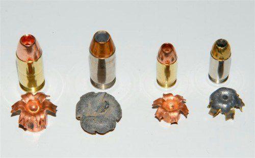 munición punta hueca pistola
