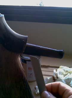 acuchillar culata rifle