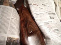 restauracion culata de madera rifle