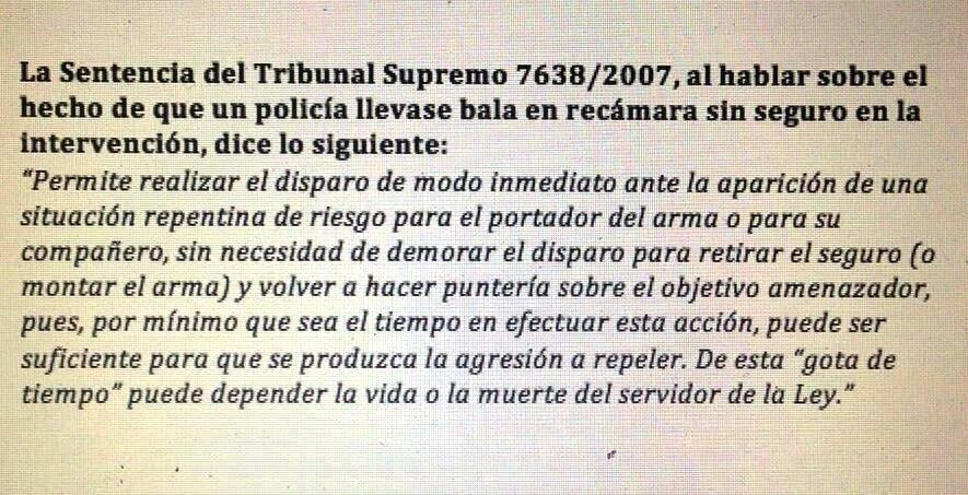 SENTENCIA DEL TRIBUNAL BALA EN RECÁMARA