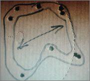 medición dispersión de las postas escopeta táctica