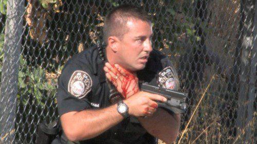policia herido en el cuello