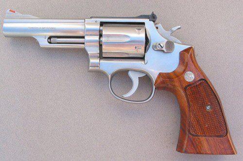 Smith&Wesson modelo 66 de acero inoxidable