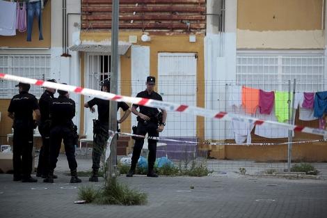 Intervención policial en la barriada de las 3000 viviendas
