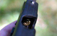 cartucho en recámara pistola