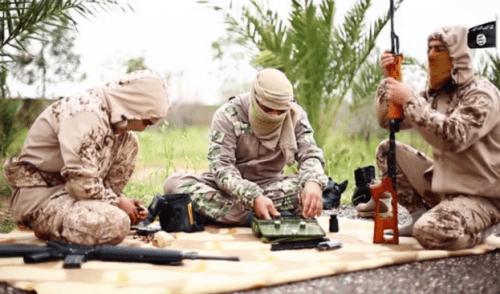 Las armas de los francotiradores del ISIS