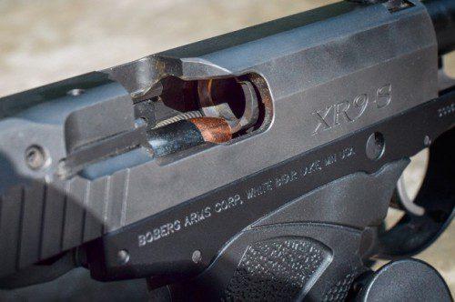 munición en recámara pistola