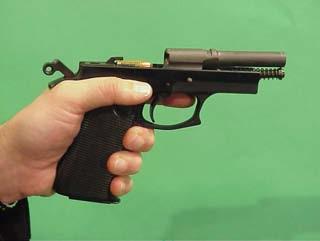 cañón con rampa pistola